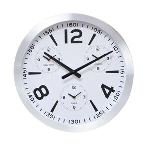 Moderní nástěnné hodiny bílé- 45 cm