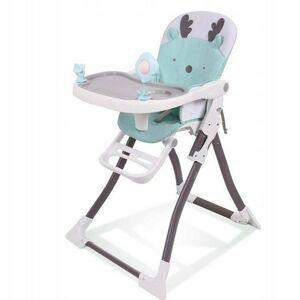 Detská jedálenská stolička Reindeer bielo-zelená
