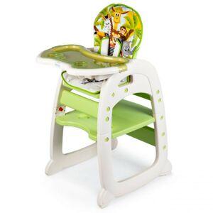 Detská jedálenská stolička 2 v 1 Animals zelená