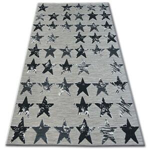 Kusový koberec LISBOA 27219/956 hvězda černý