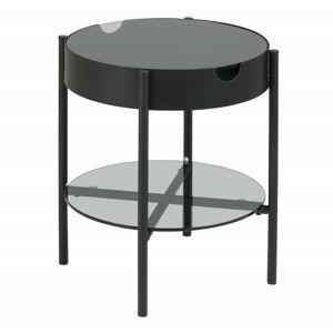 Konferenční stolek s tácem Asava 45 cm černý