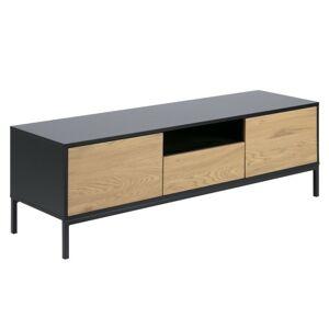 TV stolek Rena RTV 140 cm dub/černý mat