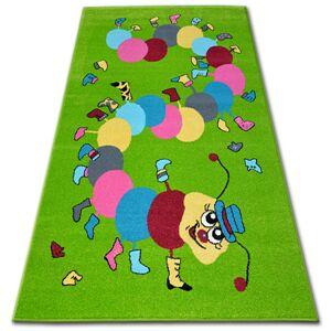 Detský koberec FUNKY CATERPILLAR zelený