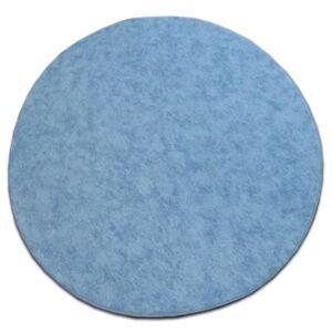 Guľatý koberec SERENADE Graib svetlomodrý