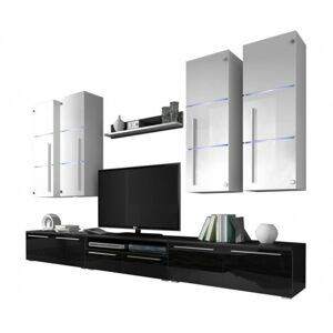 Obývací stěna Arbi LED bílá/černá