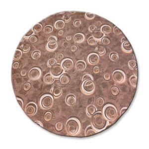 Kulatý koberec DROPS Bubbles hnědý