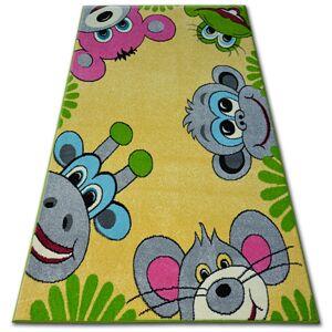 Detský koberec FUNKY SMILE žltý