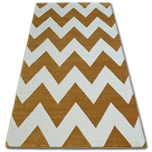 Kusový koberec SKETCH OWEN zlatý/krémový - cikcak