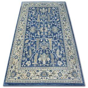 Kusový koberec ARGENT - W7039 květiny námořnická modrá / krémový