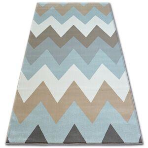 Kusový koberec ARGENT - W4936 cikcak modrý