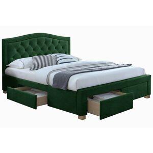 Čalouněná postel Antero 160x200 dvoulůžko - zelené