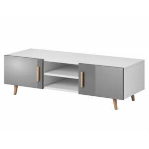 TV stolek Nico L RTV 140 cm bílý/šedý
