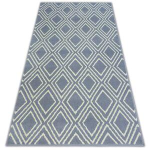 Kusový koberec BCF BASE CONTOURS 3957 čtverce šedý