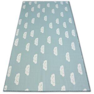 Detský koberec CLOUDS zelený
