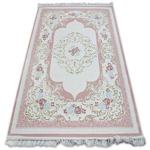 Kusový koberec AKRYLOVÝ MIRADA 5411 Růžový ( Pembe ) Fringe