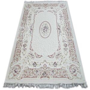 Kusový koberec AKRYLOVÝ MIRADA 5405 karmínový (Murdum) Fringe