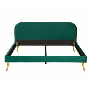 Čalouněná postel Rubic 160x200 dvoulůžko - tmavě zelené