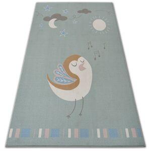 Kusový koberec LOKO Bird zelený