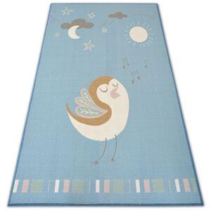 Kusový koberec LOKO Bird modrý