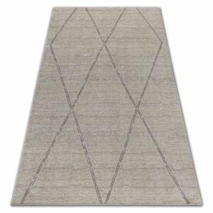 Kusový koberec SOFT ROMBY krémovo-béžový