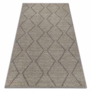 Kusový koberec SOFT ROMBY ETNO krémovo-béžový