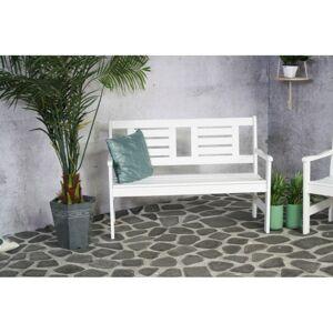 Zahradní lavička Luppo 120 cm bílá