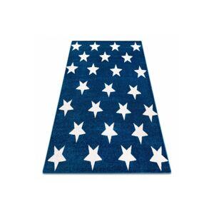 Kusový koberec SKETCH PETER modrý/biely - hviezda