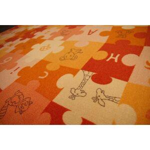 Detský koberec PUZZLE oranžový
