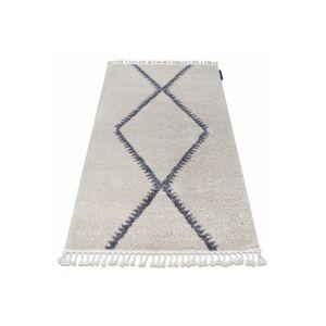 Kusový shaggy koberec BERBER MEKNES krémový