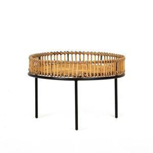 Konferenční ratanový stolek Bima 60 cm boho
