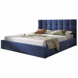 Čalouněná postel Acoma 160x200 dvoulůžko - námořnická modř