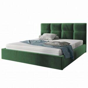 Čalouněná postel Ksavier 160x200 dvoulůžko - zelené