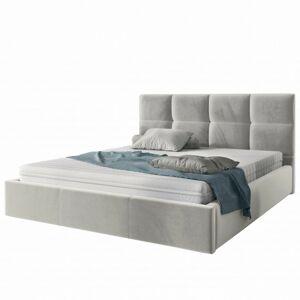 Čalouněná postel Brayden 160x200 dvoulůžko - šedé
