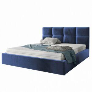 Čalouněná postel Brayden 140x200 dvoulůžko - námořnická modř