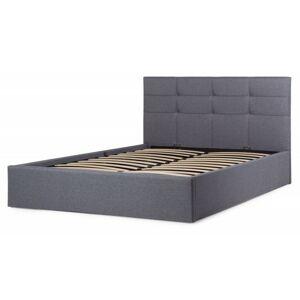 Čalouněná postel Calabria 140x200 dvoulůžko - šedé
