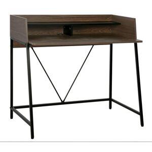 Psací stůl Linato 103 cm ořech/černý