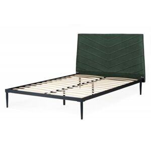 Čalouněná postel Medelin 140x200 dvoulůžko zelené
