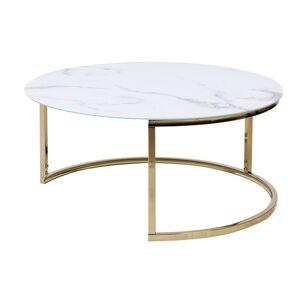 Kulatý konferenční stolek Lula I bílý