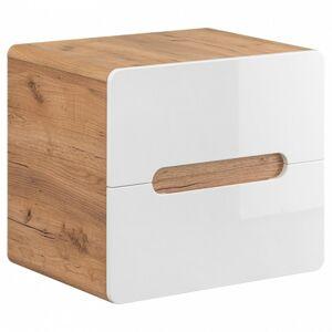 Umyvadlová skříňka ARUBA 53x60x46 cm dub/bílá