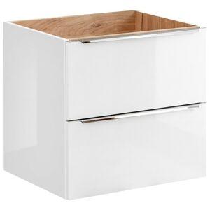 Umyvadlová skříňka CAPRI 60 cm bílý lesk/dub zlatý