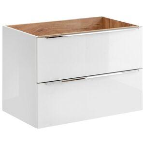 Umyvadlová skříňka CAPRI 80 cm bílý lesk/dub zlatý