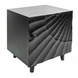 Noční stolek Scorpion černý/mango