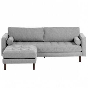 Pohovka s taburetem Bogart 222 cm světle šedá