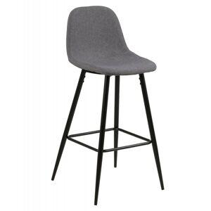 Barová židle Wilma světle šedá