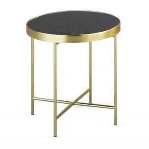 Kulatý konferenční stolek Victoria černý/zlatý