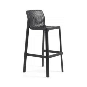 Zahradní barová židle Nardi Net I antracit