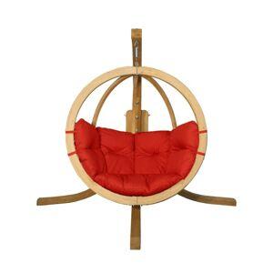 Závěsné houpací křeslo O-Zone Premier Swing Pod červené se stojanem