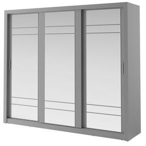 Šatní skříň Arti 250 cm šedá