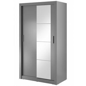 Šatní skříň Arti 120 cm šedá