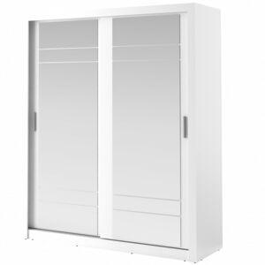 Šatní skříň Arti 203 cm bílá